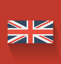 Flat flag of the UK vector image vector image