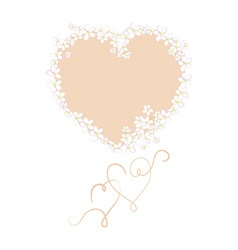 greeting cards with hearts and flowers vector image vector image