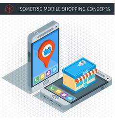 isometric mobile phone vector image