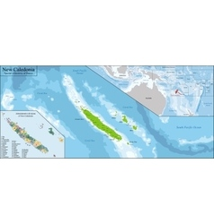 New Caledonia map vector image vector image