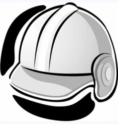 working equipment with hat vector image vector image