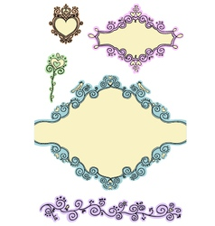 doodle frames - second part vector image