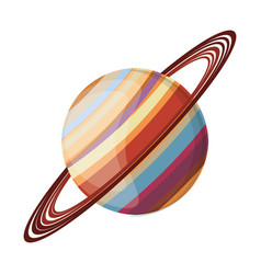 saturn planet space image vector image vector image