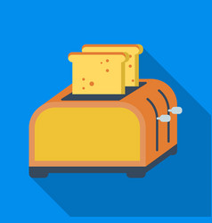 Toaster icon in flate style isolated on white vector