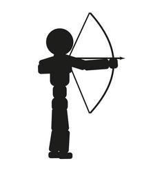 archer man sign black icon vector image vector image