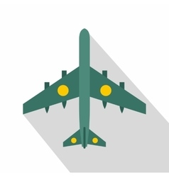 Military fighter aircraft icon flat style vector image vector image