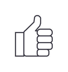finger up line icon sign on vector image