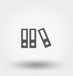 flat folder icon vector image
