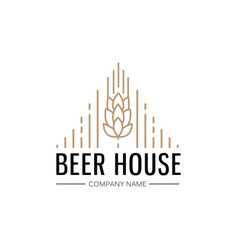 hand drawn beer house logo template vector image