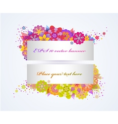 Set of bright floral banners vector image vector image