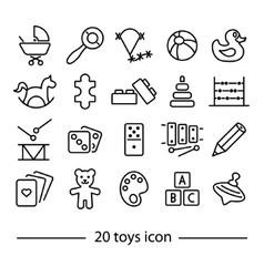 twenty line toys icon vector image vector image