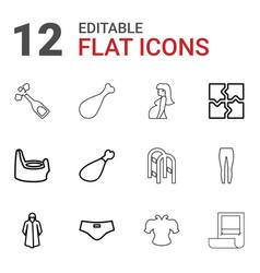 12 sketch icons vector