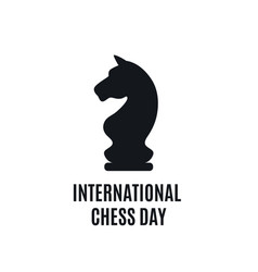 20th of july - international day of chess concept vector image