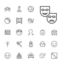 22 fun icons vector