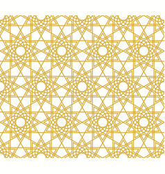 Abstract background with arabic geometric ornament vector