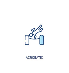 Acrobatic concept 2 colored icon simple line vector