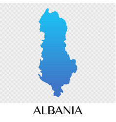 Albania map in europe continent design vector