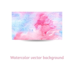 Artistic watercolor on textured paper background vector image