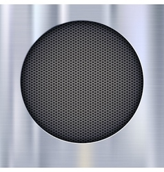 Background with speakers metal mesh vector image