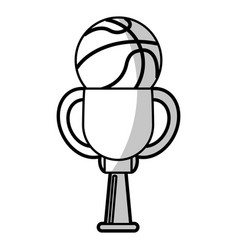 Basketball winner cup prize - shadow vector