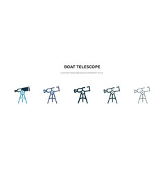 boat telescope icon in different style two vector image