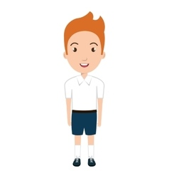 boy student character isolated icon vector image