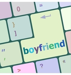 Boyfriend word on keyboard key vector