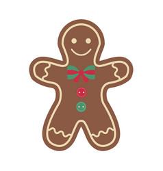 christmas ornament vintage felt ginger man vector image
