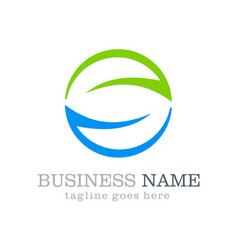 Circle round ecology business logo vector