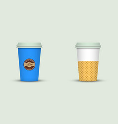 Coffee cup to go creative coffee cup template vector
