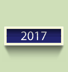 Countdown timer 2017 year with shadow vector