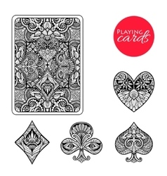 Decorative Card Suits Set vector image