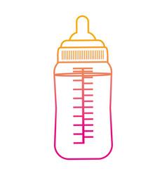 degraded line plastic bottle feeding baby vector image