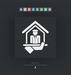 Doorman icon vector