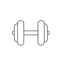 dumbbell line icon on white background vector image