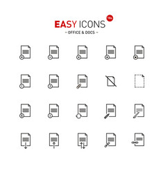 Easy icons 18a docs vector