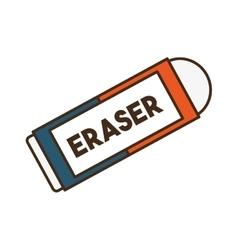 Eraser school supply isolated icon vector
