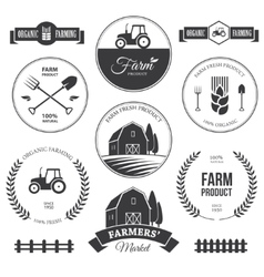 Farm labels 2 vector image