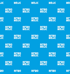 festival retro music pattern seamless blue vector image