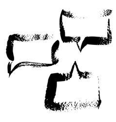 Figured brush strokes vector image