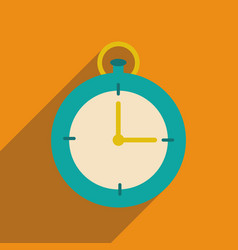Flat web icon with long shadow stopwatch vector