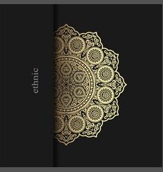 floral ornamental mandala style design background vector image