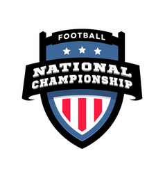 football nationl championship emblem logo vector image