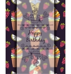 Frame for text Happy Birthday Graphics drawn by vector