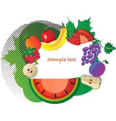 fruit border vector image