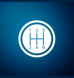 Gear shifter icon transmission icon vector
