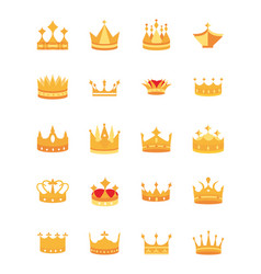 Gold crowns jewel authority coronation monarchy vector