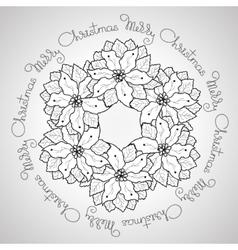 Hand drawn Merry Christmas ornamental vector
