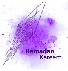 Hand drawn sketch ramadan lantern vector