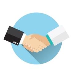 Handshake doctor and patient vector image